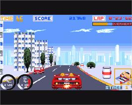 In game image of Turbo Out Run on the Commodore Amiga.