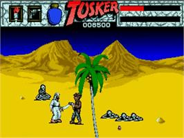 In game image of Tusker on the Commodore Amiga.