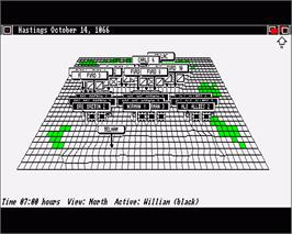 In game image of UMS: The Universal Military Simulator on the Commodore Amiga.