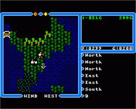 In game image of Ultima IV: Quest of the Avatar on the Commodore Amiga.