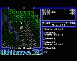 In game image of Ultima V: Warriors of Destiny on the Commodore Amiga.
