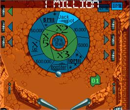 In game image of Ultimate Pinball Quest on the Commodore Amiga.