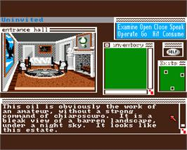 In game image of Uninvited on the Commodore Amiga.