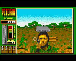 In game image of Veteran on the Commodore Amiga.