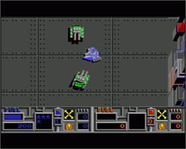 In game image of Vindicators on the Commodore Amiga.