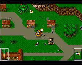 In game image of Virocop on the Commodore Amiga.