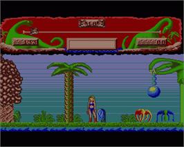 In game image of Vixen on the Commodore Amiga.