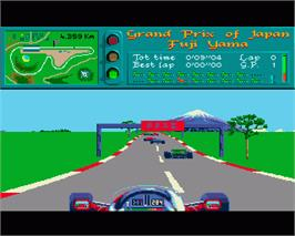 In game image of Vroom on the Commodore Amiga.