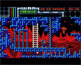 In game image of War Machine on the Commodore Amiga.