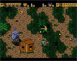 In game image of War Zone on the Commodore Amiga.