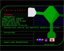 In game image of Warhead on the Commodore Amiga.