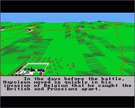 In game image of Waterloo on the Commodore Amiga.