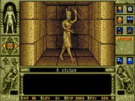 In game image of Waxworks on the Commodore Amiga.