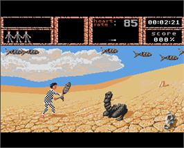 In game image of Weird Dreams on the Commodore Amiga.