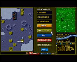 In game image of When Two Worlds War on the Commodore Amiga.