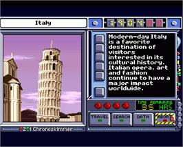 In game image of Where in Time is Carmen Sandiego on the Commodore Amiga.