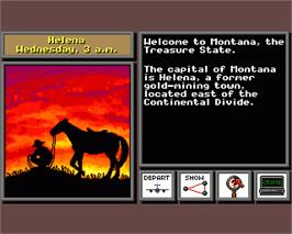 In game image of Where in the USA is Carmen Sandiego on the Commodore Amiga.
