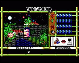 In game image of Windwalker on the Commodore Amiga.