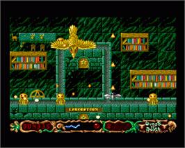 In game image of Wings of Death on the Commodore Amiga.
