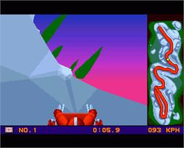 In game image of Winter Olympics: Lillehammer '94 on the Commodore Amiga.