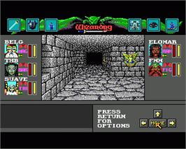 In game image of Wizardry VI: Bane of the Cosmic Forge on the Commodore Amiga.