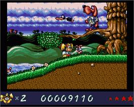 In game image of Wonder Dog on the Commodore Amiga.