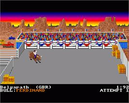 In game image of World Games on the Commodore Amiga.