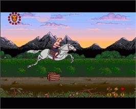 In game image of Wrath of the Demon on the Commodore Amiga.