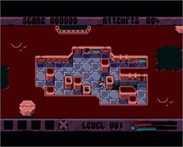 In game image of X-It on the Commodore Amiga.