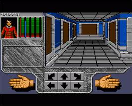 In game image of Xenomorph on the Commodore Amiga.