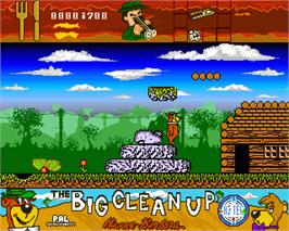 In game image of Yogi's Big Clean Up on the Commodore Amiga.