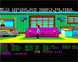 In game image of Zak McKracken and the Alien Mindbenders on the Commodore Amiga.