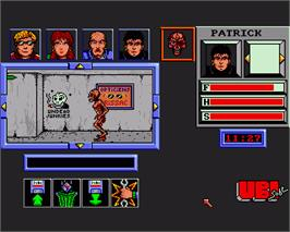 In game image of Zombi on the Commodore Amiga.