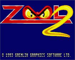 In game image of Zool 2 on the Commodore Amiga.