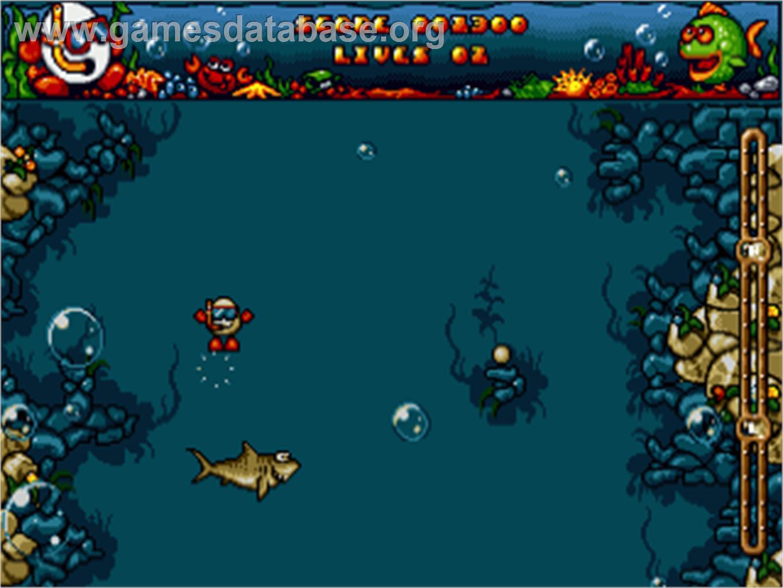 In game image of Bubble Dizzy on the Commodore Amiga.