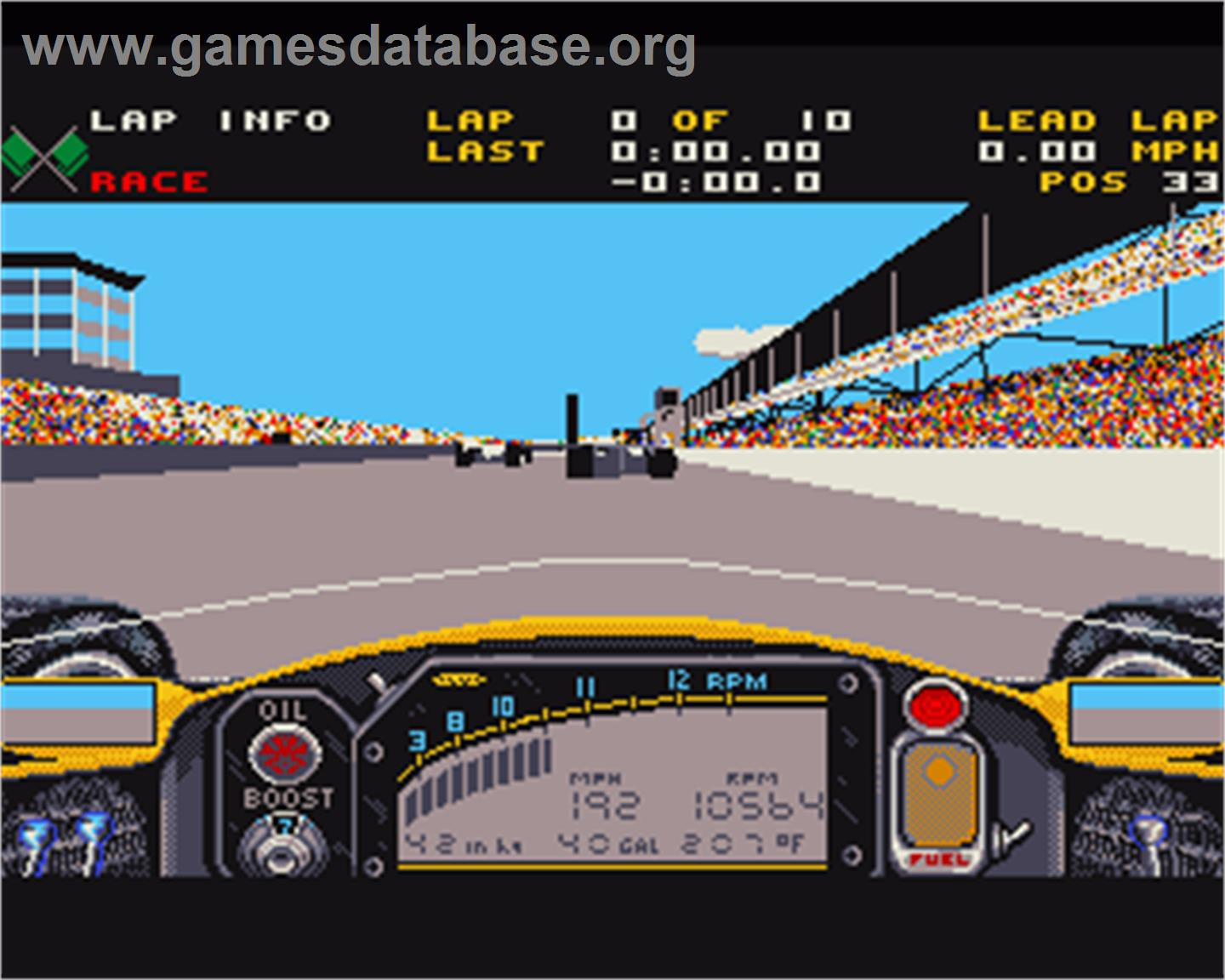 game image of Indianapolis 500: The Simulation on the Commodore Amiga