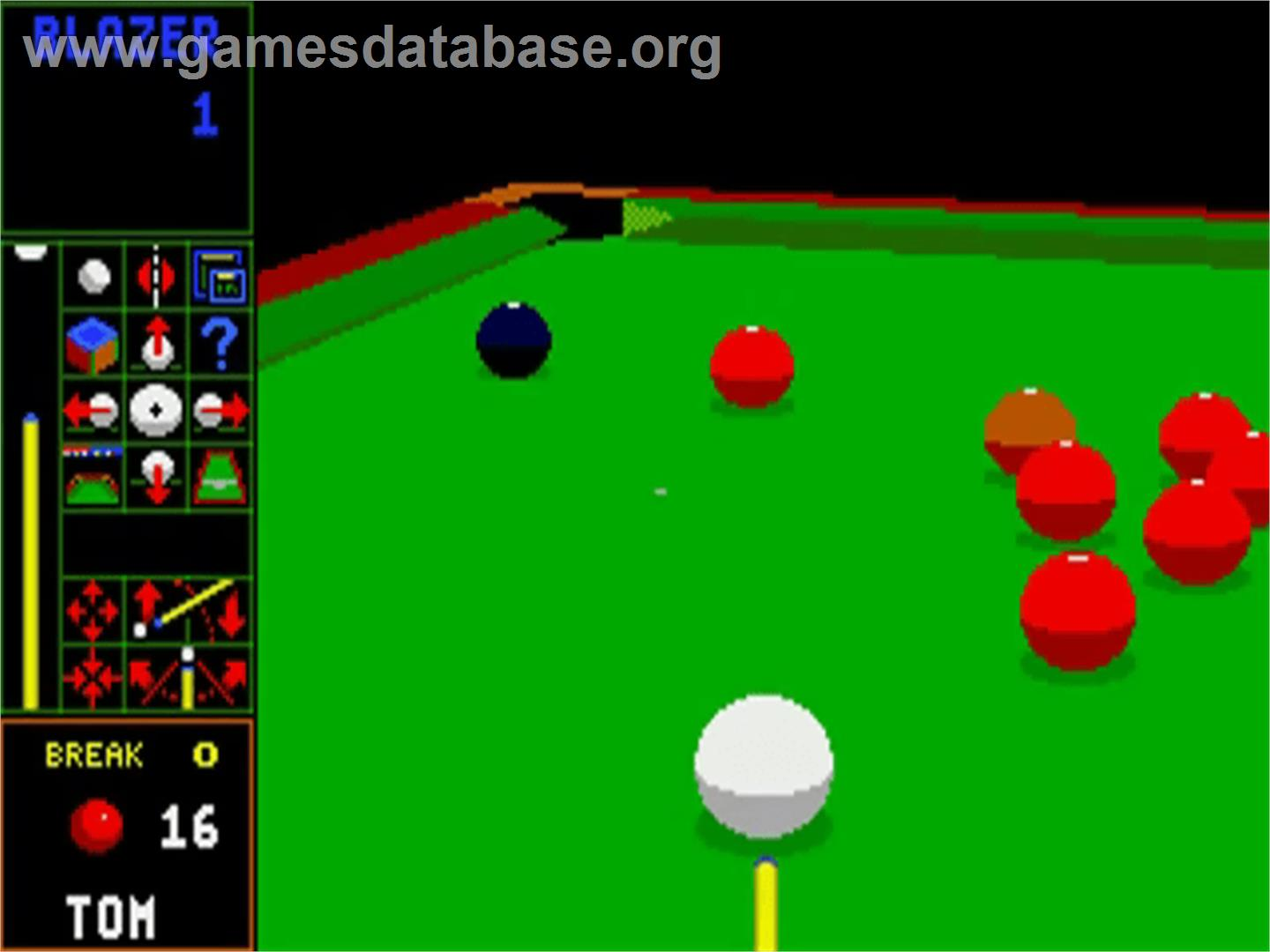 Jimmy White's Whirlwind Snooker - Commodore Amiga - Artwork - In Game