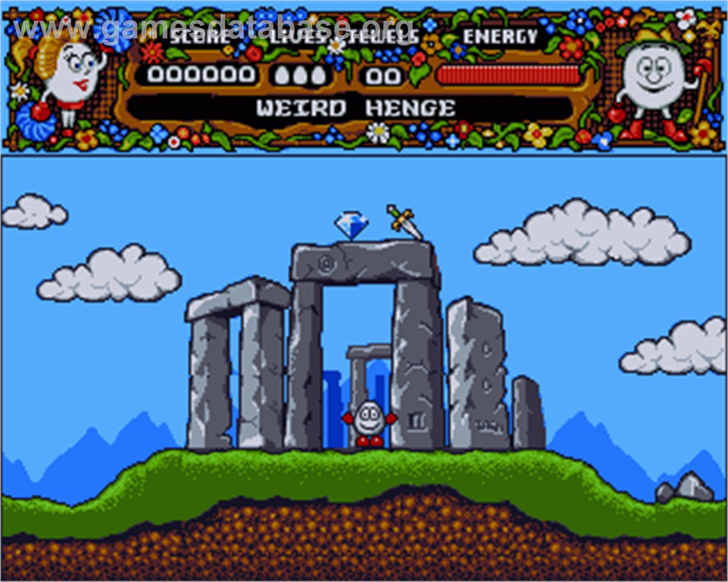 In game image of Magicland Dizzy on the Commodore Amiga.