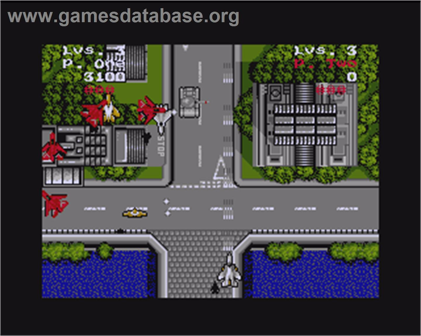 In game image of Sonic Boom on the Commodore Amiga.