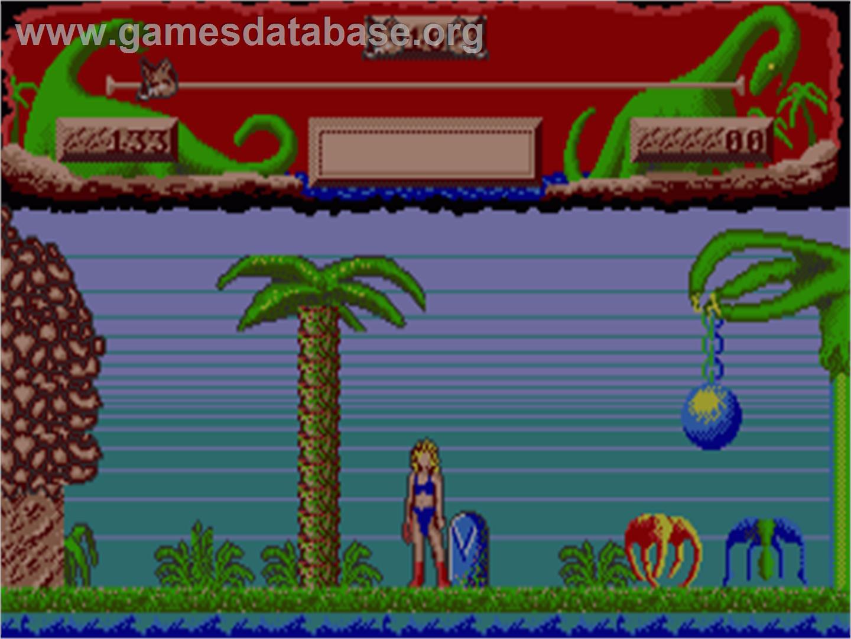 In game image of Vixen on the Commodore Amiga.