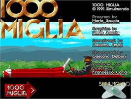 Title screen of 1000 Miglia: Great1000 Miles Rally on the Commodore Amiga.