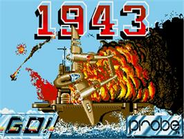 Title screen of 1943: The Battle of Midway on the Commodore Amiga.
