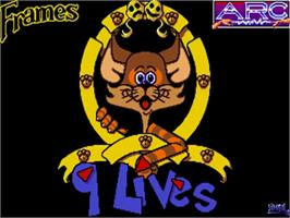 Title screen of 9 Lives on the Commodore Amiga.