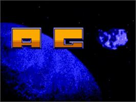 Title screen of A.G.E. on the Commodore Amiga.