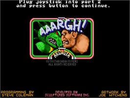 Title screen of Aaargh on the Commodore Amiga.