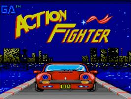 Title screen of Action Fighter on the Commodore Amiga.
