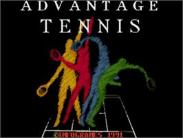Title screen of Advantage Tennis on the Commodore Amiga.