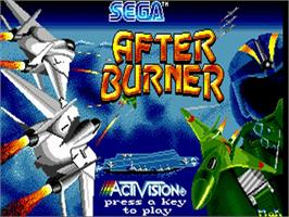 Title screen of After Burner on the Commodore Amiga.