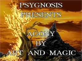 Title screen of Agony on the Commodore Amiga.