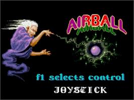 Title screen of Airball on the Commodore Amiga.